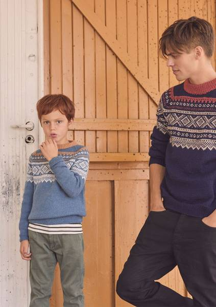 Marius Genser med raglan til barn - Garnpakke